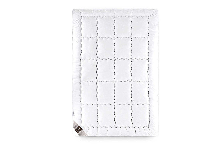 Sei Design Premium Bettdecke SWAN de Luxe 220x200 mit daunenähnlicher Füllstruktur – extra warm – Bezug 100% Baumwolle   leichte Decke mit hoher Wärmehaltung.