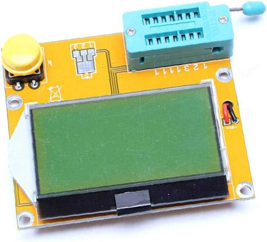 Transistor Tester Module LCR-T4 Capacitance Inductance LCR ESR Meter Mega328 MOS PNP NPN with Battery Buckle