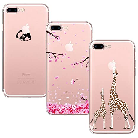 Yoowei 3 Pack Iphone 7 Plus 8 Plus Case Crystal Clear Amazon Co