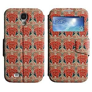 LEOCASE remolinos lindos Funda Carcasa Cuero Tapa Case Para Samsung Galaxy S4 I9500 No.1005880