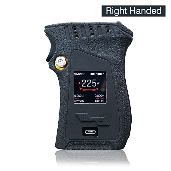 Review DSC-Mart Texture Case for Smok Mag 225W Right Handed BOX MOD Protective Silicone Skin Rubber Cover Sleeve Wrap Gel fits MAG 225W Starter Kit (Black)