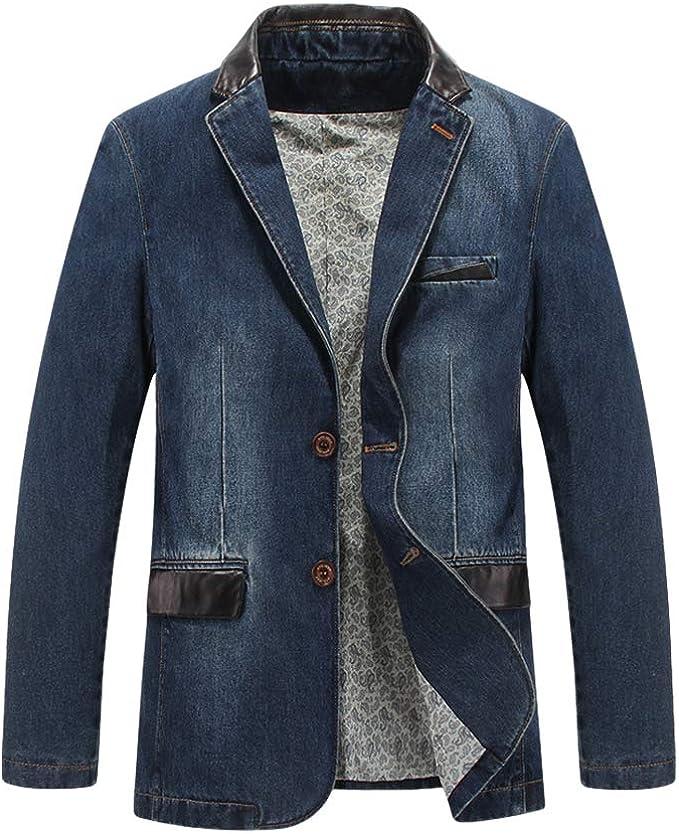 スーツ メンズ デニム ジャケット ブレザー スリム カジュアル 通勤 通学 大きいサイズ 春秋 冬服