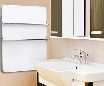 panneau chauffant spcial salles de bains avec 2 portes serviettes chauffage lctrique basse consommation - Puissance Radiateur Salle De Bain