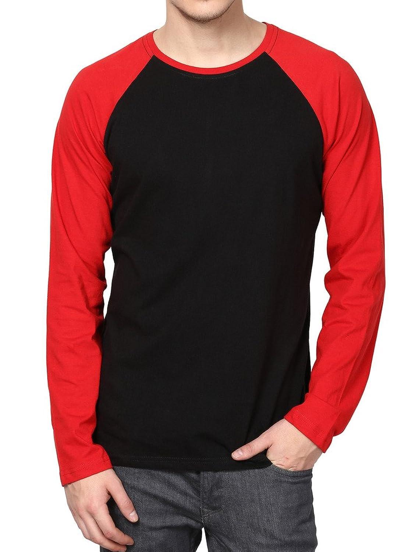 IZINC Men's Raglan Neck Full Sleeve Cotton T-Shirt: Amazon.in ...