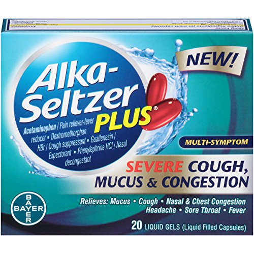 Alka-Seltzer Plus Severe Cough, Mucus and Congestion Liquid Gels, 20 Count (Alka And Seltzer Cold Sinus)