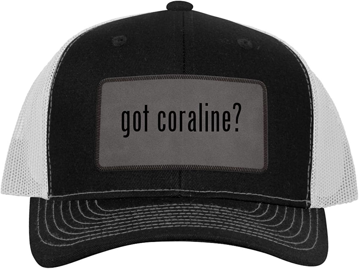 Got Coraline Leather Grey Patch Engraved Trucker Hat Black White One Size At Amazon Men S Clothing Store