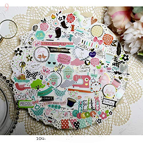 104pcs Happiness is Handmade Cardstock Die Cut Stickers for Scrapbooking Happy Planner/Card Making/Journaling Project