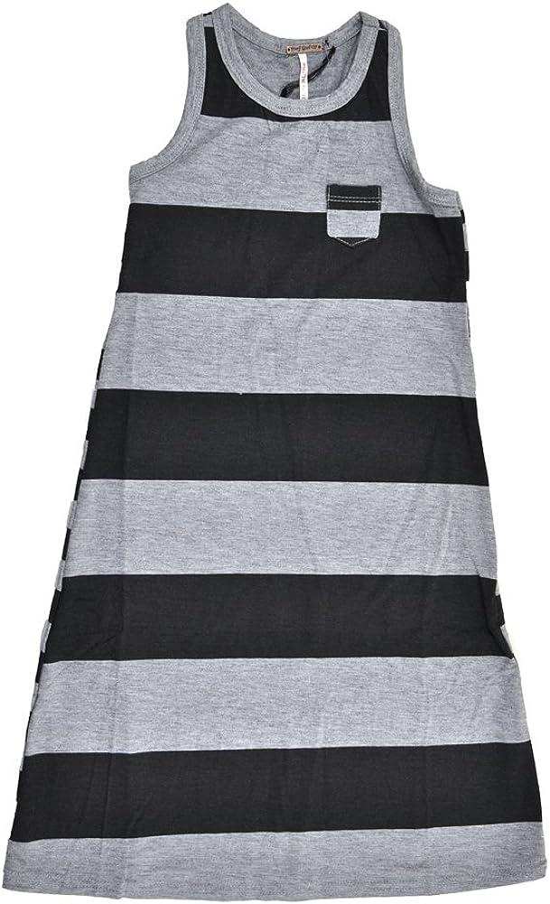 Poof Girls Black /& Gray Striped Dress Size 4 5//6 6X