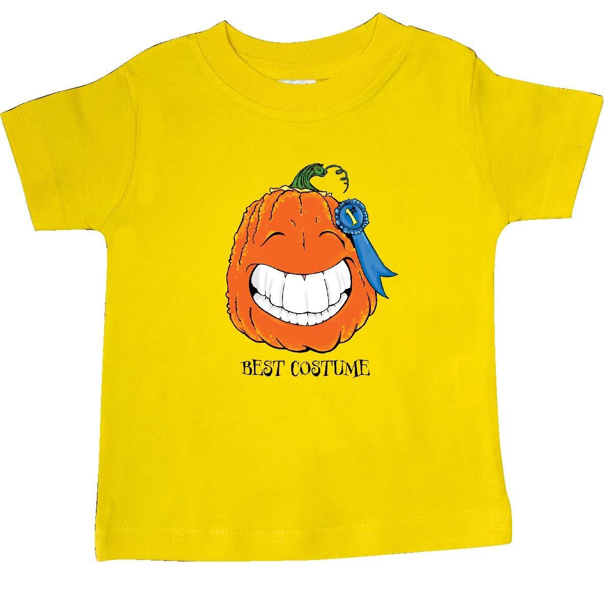 inktastic Best Costume Smiling Pumpkin Baby T-Shirt