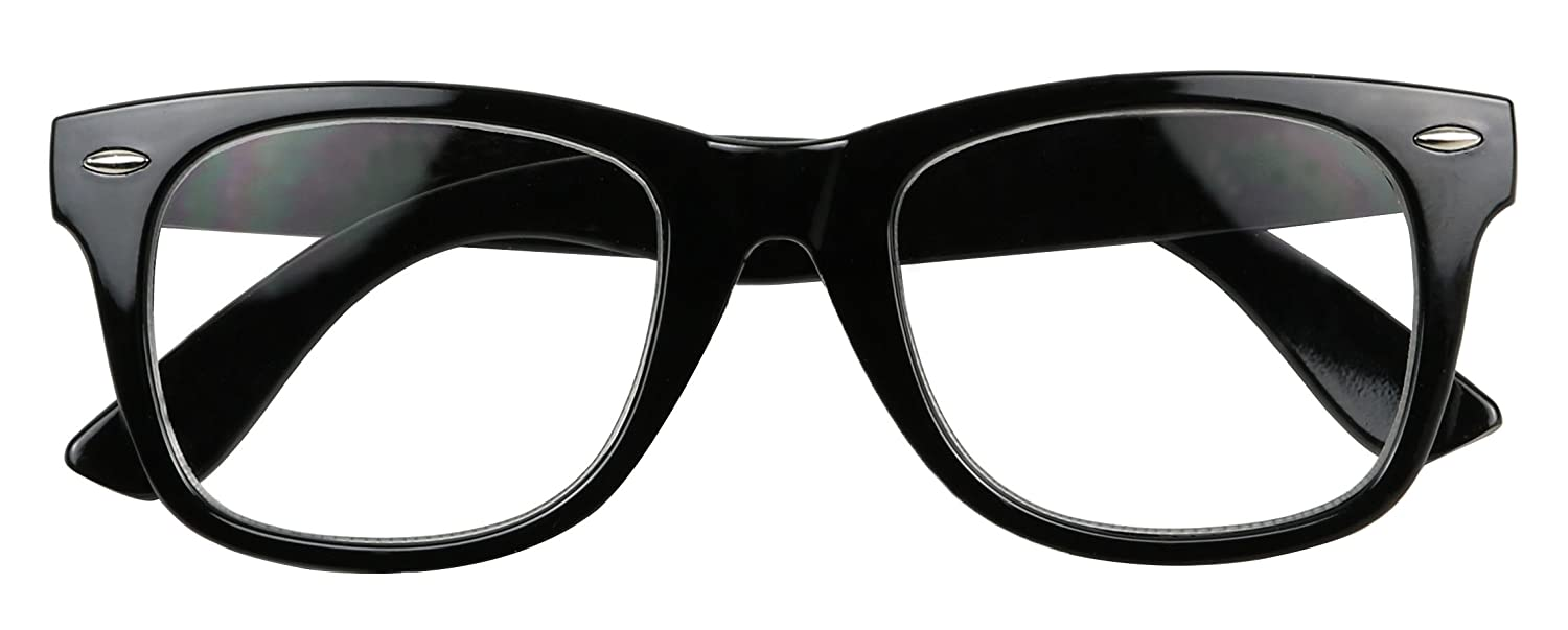 115d322fdd Amazon.com  ShadyVEU - Classic Round 80 s Style Reading Rx Optical  Magnification Vision Eye Glasses (Black