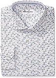 Robert Graham Men's Trim Fit Circle Print Spread Collar Dress Shirt, Tan, 16'' Neck 34''-35'' Sleeve