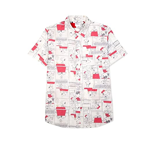5f5e3ae35 Image Unavailable. Image not available for. Color: Jem Enterprises Jem  Men's Snoopy Graphic-Print Short-Sleeve Shirt ...