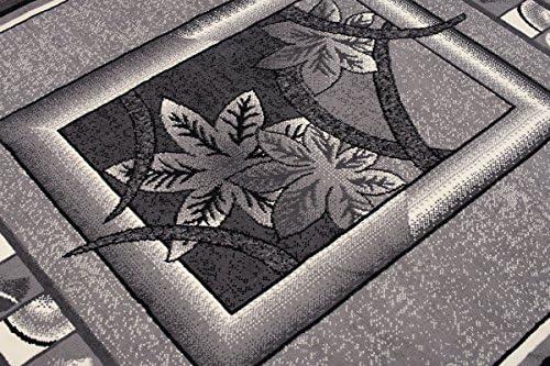 Tapiso Dream Tapis de Salon Chambre Design Moderne Gris Cr/ème Bordure Fen/être Fleur Doux Fin Poil Court 60 x 100 cm