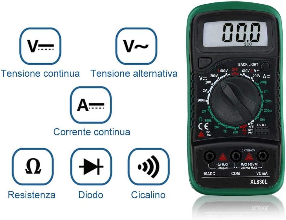 Mini multimetro analogico portatile ad alta sensibilit/à portatile standard voltmetro voltmetro con puntatore di resistenza professionale standard con penna di prova