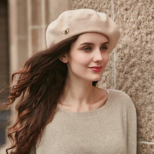 VEC 100/% Wool Berets Cap for Women Beanies Cap Artist Hats French Style