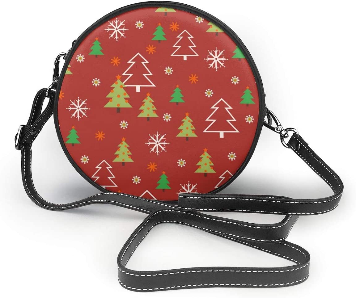 Christmas Tree Snow Berries Women Specially High Density Shoulder Bags Thick Backpack Travel School Wallet