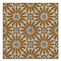 Moroccan Mosaic & Tile House CTP54-02 Alhambra 8''x8'' Handmade Cement Tile in Orange and Gray (Pack of 12), OrangeWhiteGray