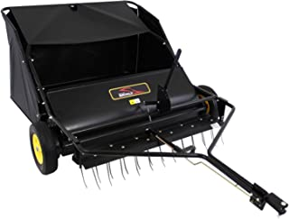 product image for Brinly STS-42BHDK Tow-Behind Lawn Sweeper with Dethatcher