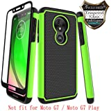 Moto G7 Power Case,Moto G7 Supra with [Tempered Glass Screen Protector] Nuomaofly Rugged Heavy Duty Shock-Absorption…