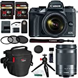 Canon EOS M5 Mirrorless Camera Kit EF-M 18-150mm f/3.5-6.3 IS STM Lens Kit, Ritz Gear SD 32GB (2 Pack), Photo Pack, 55mm 3-Piece Filter Kit, Tabletop Tripod, Wireless Remote, and Accessory Bundle