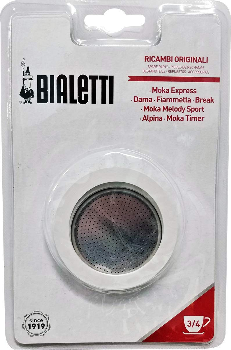 Bialetti Replacement Gasket and Filter For 3 Cup Stovetop Espresso Coffee Makers