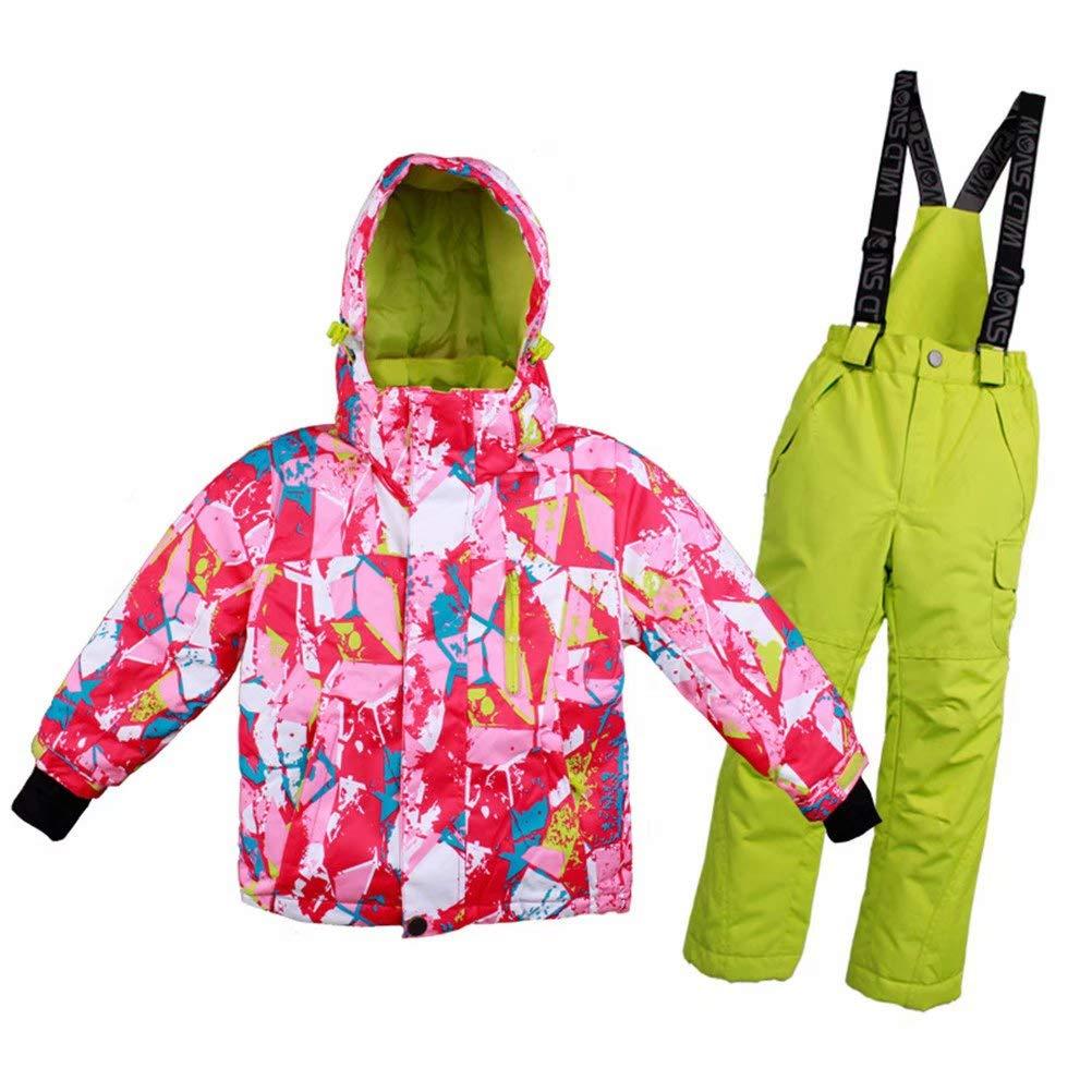 Kayiyasuスキーウェア スキージャケット 子供用 上下セット 女の子 男の子 ジュニア用 アウター スポーツ スノーウェア 登山服 041-wdn-t622 B07GYDT3SQ 120|色1 色1 120
