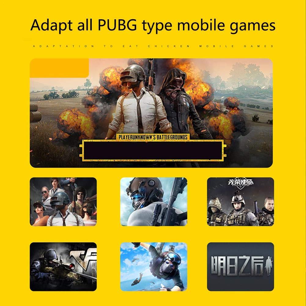 Upgrade Version Contr/ôleur Mobile PUBG Game Controller Six Finger All-in-One Contr/ôleur Shooter Sensitive Joystick pour Shooter Contr/ôleur de Jeux Mobiles pour Android iOS