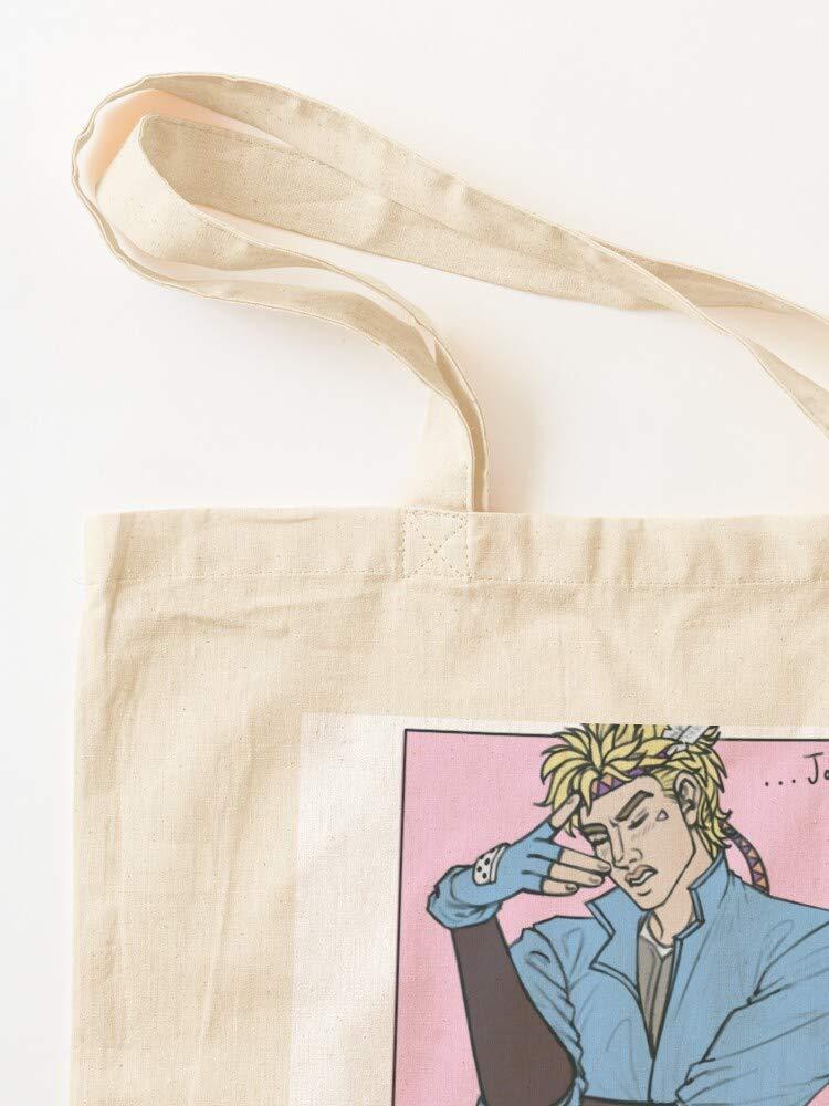 Canvas Grocery Bags Tote Bags with Handles Durable Cotton Shopping Bags Bizarre No Jojos Caesar Zeppeli Adventure Jojo
