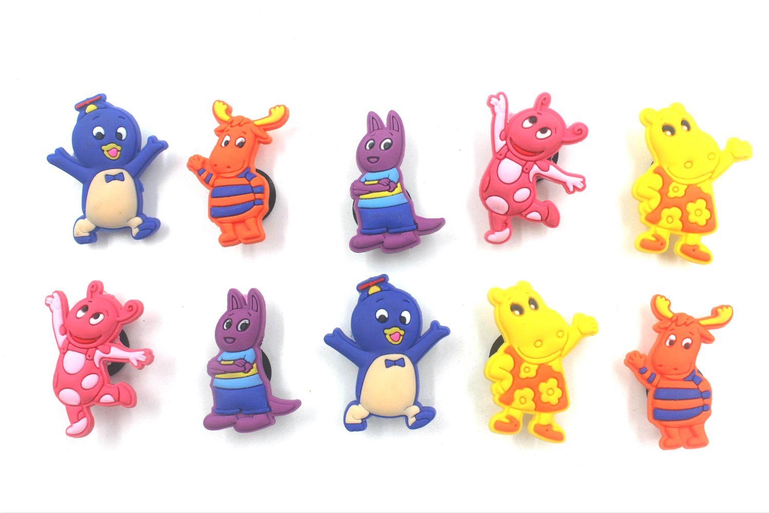 10pcs Shoe Charms for Croc & Bracelet Wristband Kids Party Birthday Gifts #032 YaqinZ
