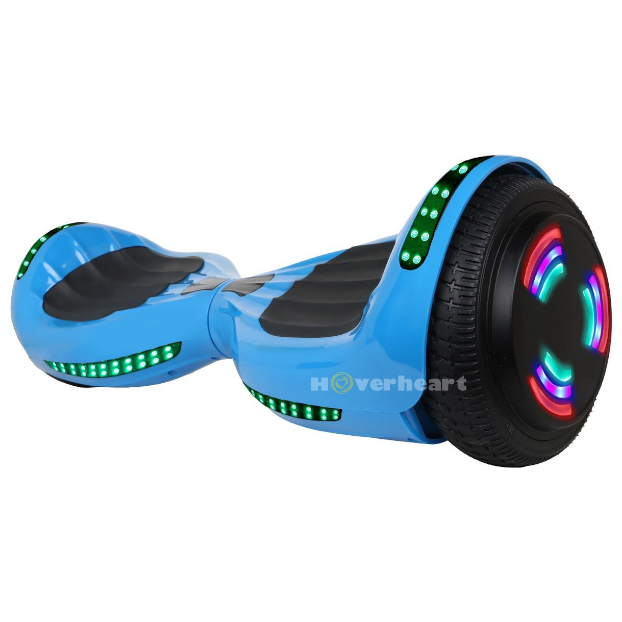 VEEKO Hoverboard UL 2272 Certified Flash Wheel 6.5'' Bluetooth Speaker with LED Light Self Balancing Wheel Electric Scooter (Blue) by Hoverheart