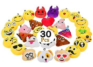 Amazon.com: Niviy Emoji - Juego de 10 almohadas de felpa con ...