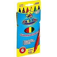 Carioca Joy Süper Yıkanabilir Keçeli Boya Kalemi, 6'lı