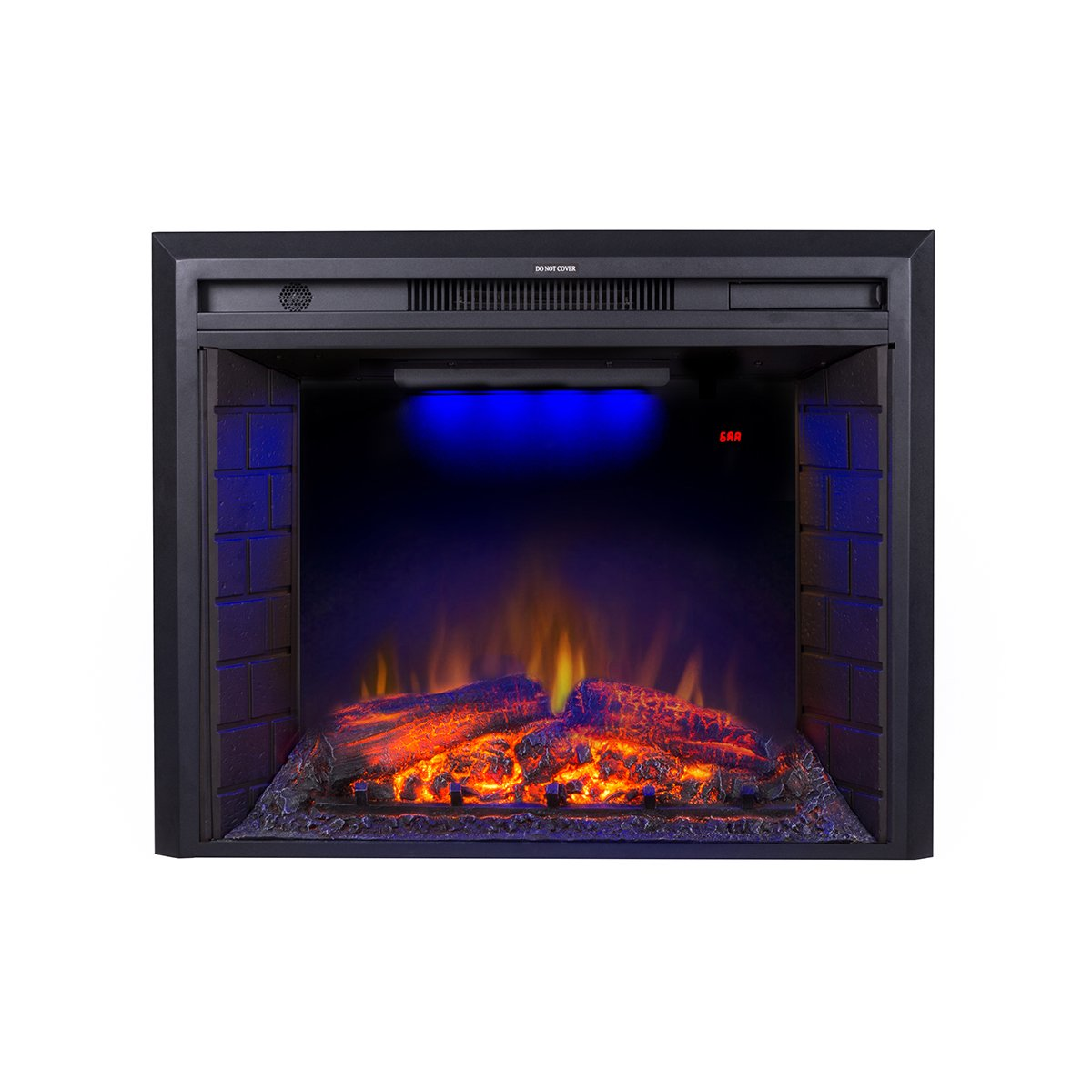 Flameline 30 Roluxy Electric Fireplace Insert with Remote Control,Log Speaker,750 1500W,Black