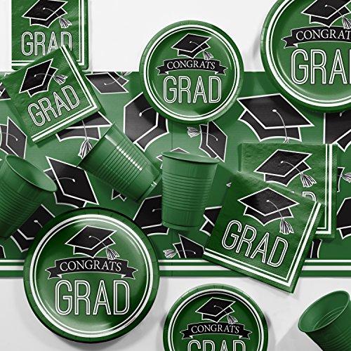 Graduation School Spirit Green Party Supplies Kit
