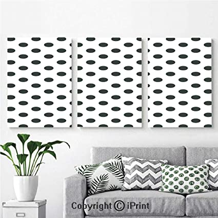 Genial Wall Art Decor 3 Pcs High Definition Printing Nostalgic Polka Dots Pattern  With Large Round Circles