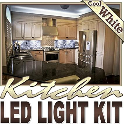 Biltek 6u0027 Ft Cool White Kitchen Counter Cabinet LED Lighting Strip + Dimmer  + Remote