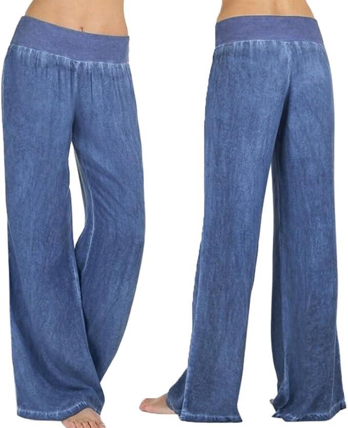 Manadlian Jean Femme Pantalon /à Bas Evas/é Denim Taille Basse Jean /à Pattes d/'/él/éphant Pantalon /à la Tendance Automne Pants Avoir Poches