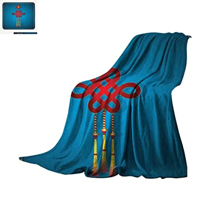chinese new year throw blanket festival decorations theme hanging knot illustration swirl border warm microfiber all