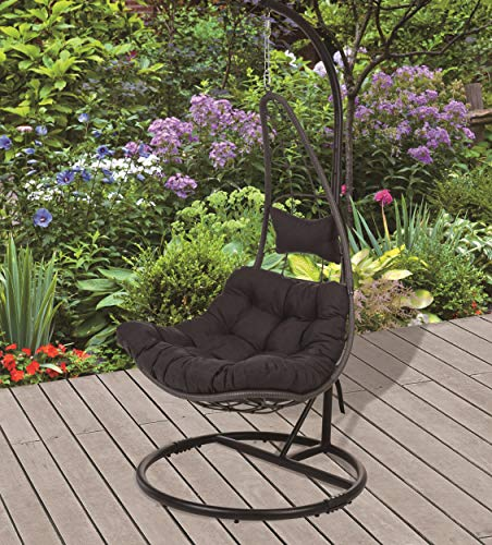 Koopman-Moon-Swing-Chair-Black