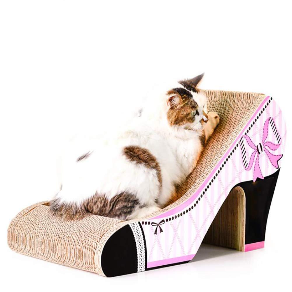 JYZ Tablero de rasca del Gato del Juguete, Corrugado Alto del Gato del cartón Durable del Gato salón con el Catnip rechinar Las Garras del Entretenimiento: ...