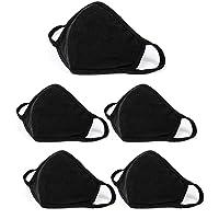 5 pcs Fashion Protective, Unisex Black Dust Cotton, Washable, Reusable Cotton Fabric