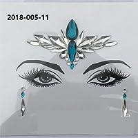 FGVBHTR Cosmetic Music Festival Face Lovely 3D Jewels Corpo in cristallo Glitter Face Stickers Bindi adesivo Strass Tatuaggi temporanei