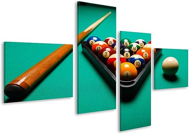 Cuadro Cuadros Bolas de Billar en una Mesa de Billar Impresión sobre Lienzo - Formato Grande - Cuadros Modernos: Amazon.es: Hogar