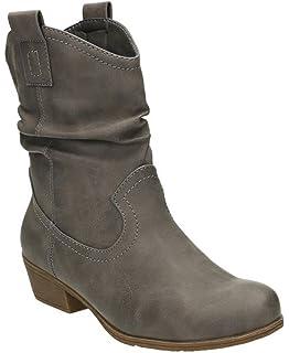 King Of Shoes Damen Stiefeletten Cowboy Western Stiefel Boots  Schlupfstiefel Schuhe 36-2 dc8a889aa6