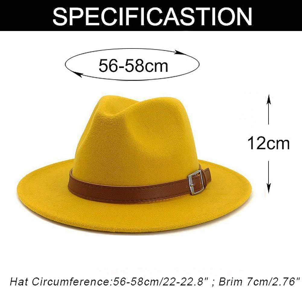 Cappello Classico Fedora Panama a Tesa Larga con Fibbia per Cintura