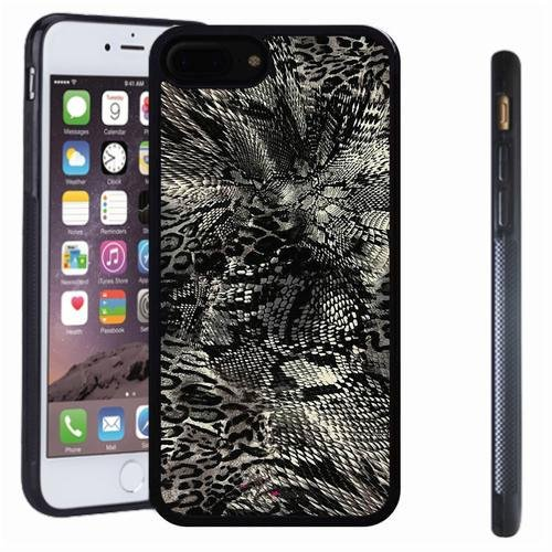 iphone 7 8 Plus case, SoloShow(R) Slim Shockproof TPU Soft Case Rubber Silicone for Apple iphone 7 8 Plus [Snakeskin pattern] -