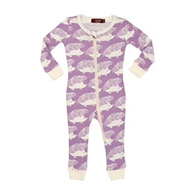 f56c1ea35 Amazon.com  MilkBarn Organic Cotton Zipper Pajama - Lavender ...