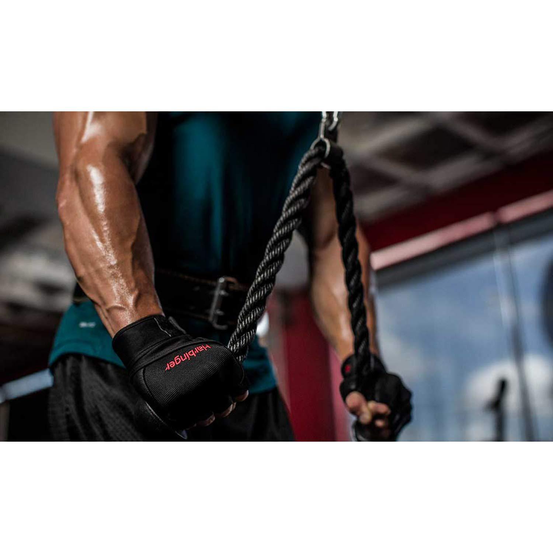 Harbinger Herren Pro Wristwrap Fitnesshandschuhe Black L