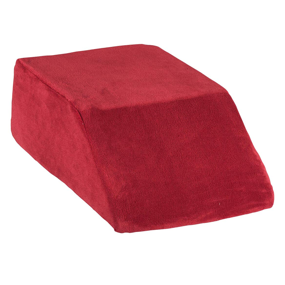 LivingSURE Plush Cover for Leg Lift Wedge Support Pillow, Zippered Pillow Cover, Burgundy, Polyester by Fox Valley Traders