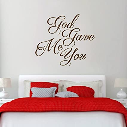 Amazoncom Dfhfgt Wall Sticker Inspirational Quotes God Gave Me You